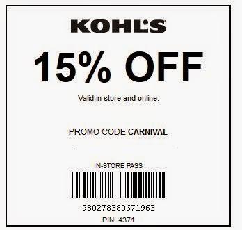 Kohls Printable Coupons January 2015