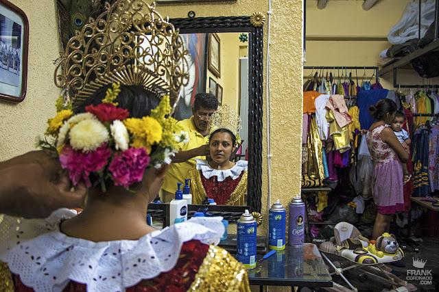 Reina de la vela tehuantepec en Dxi Laani