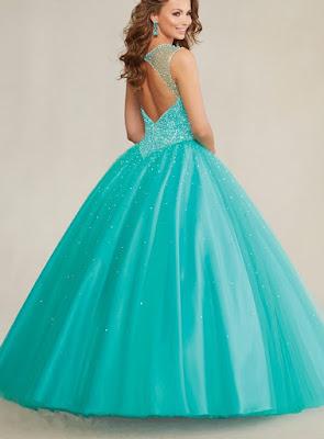 imagenes de Vestidos de 15 Años Color Menta
