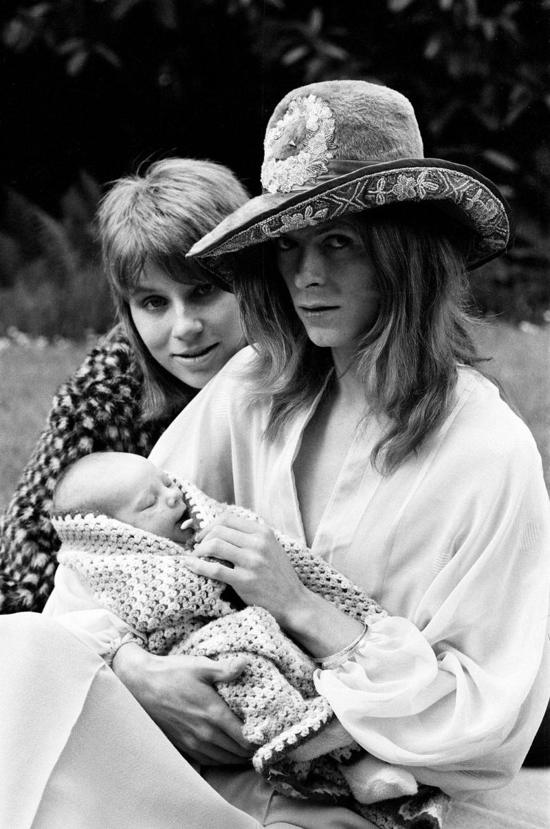 David Bowie And His Ex Wife Angie Taking Their Then 3 Week