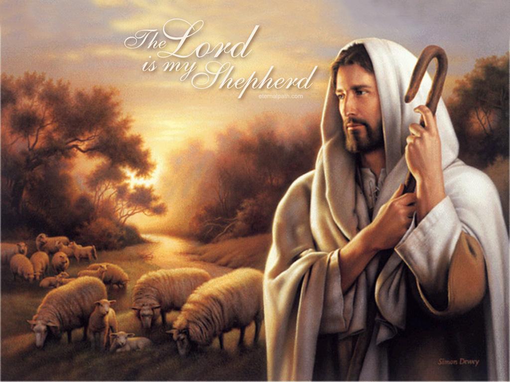 Lord Is My Shepherd Christian Wallpaper