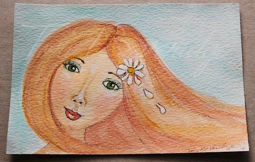 A Flower in Her Hair by Tori Beveridge 2014