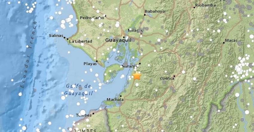 TEMBLOR EN ECUADOR de Magnitud 5.2 (Hoy Viernes 17 Noviembre 2017) Terremoto Sismo EPICENTRO Guayas - www.igepn.edu.ec