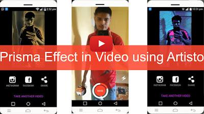 prisma effect in video using artisto
