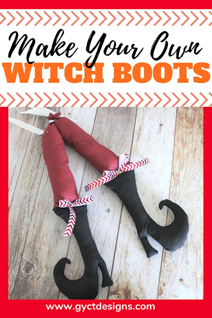 Make your own adorable witch boots for fall or Halloween decorating with this free witch shoe template and tutorial.