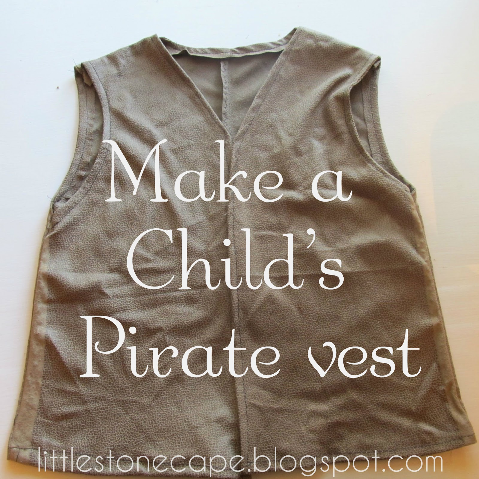 Halloween Costume Series #5. Childu0027s Pirate Vest ... & In the Little Stone Cape: Childu0027s Pirate Vest
