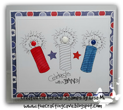 Red, White and Blue created by Lisa M. at The Crafting Cave