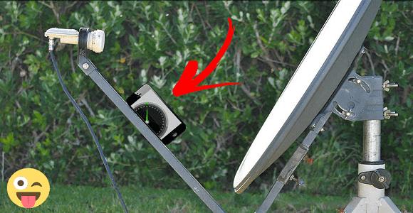 كيفية توجيه طبق الساتلايت إلى أي قمر صناعي بثواني باستعمال هاتفك فقط