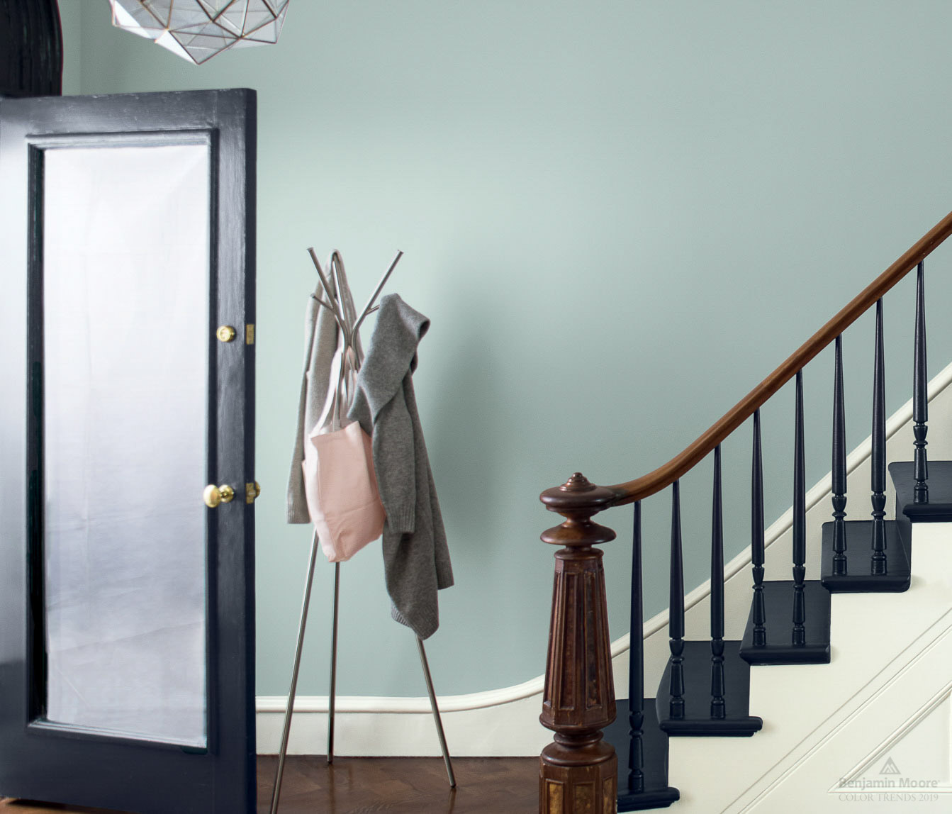 benjamin moore smoke painted walls