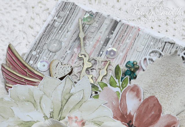 Mixed media Mother's Day card by Tracey Sabella for Scrap & Craft: https://bit.ly/2rNyTfx #mothersdaycard #mothersday #mothersdayhandmade #mothersdayart #flowercard #handmadecard #mixedmedia #mixedmediacard #shabbychic #shabbychiccard #papercrafting #finnabair #primamarketing #lindysstampgang #wildorchidcrafts  #helmar