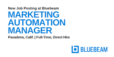 Email Marketing Jobs: Marketing Automation Manager (Bluebeam)