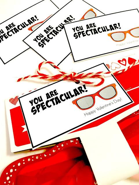 Eye glasses valentine