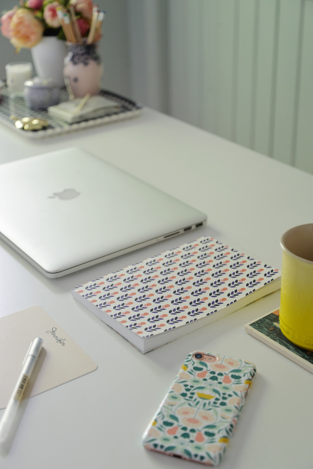 Printed Matter desk accessories, floral iphone case, Rambling Renovators