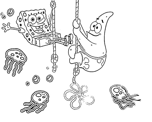 Spongebob Squarepants Coloring Pages Online