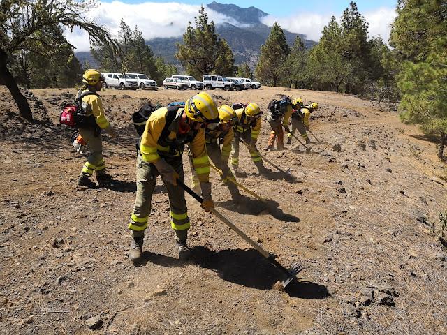 Política Territorial pone a punto el dispositivo contra incendios de la campaña estival con un gran simulacro en La Palma