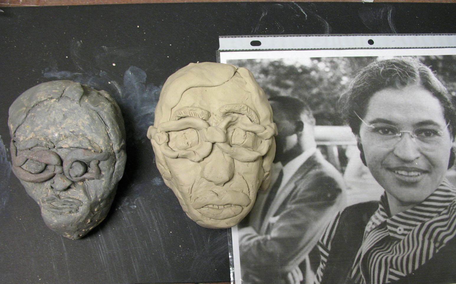 Coonley Art Studio 3 Day Portrait Sculpture Challenge