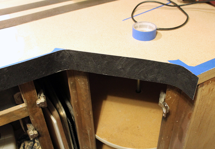 We Have An Angled Corner Cabinet So We Had To Curve The Laminate Strips We Did This Using A Heat Gun Before Any Glue Was Involved