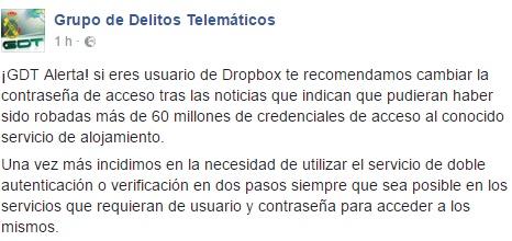 Más de 60 millones de credenciales robadas Dropbox