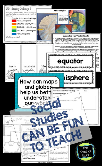teaching maps and globes