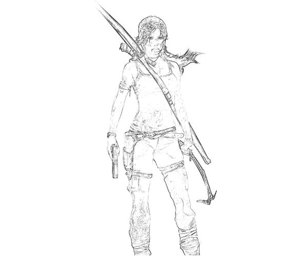 Tomb Raider Pages Coloring Pages