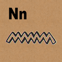image: Letter N in hieroglyphics