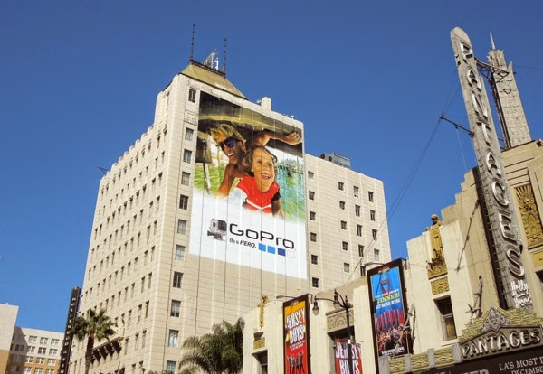 Giant GoPro father child billboard