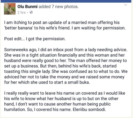 [Sad] Married Man Exposed On Facebook After Begging His Wife's Friend for S*x (See WhatsApp Chat) bunm1