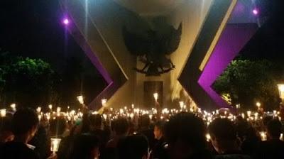 Aksi 1000 Lilin Di Palembang Diwarnai Dengan Intoleran