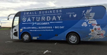 Small Business Saturday tour bus