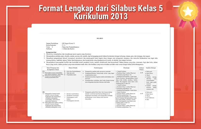 Format Lengkap dari Silabus Kelas 5 Kurikulum 2013