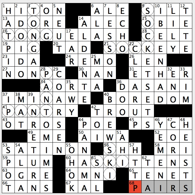 Rex Parker Does the NYT Crossword Puzzle: TD Garden athlete