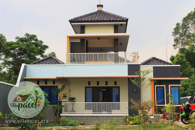 bangunan modern villa samawa pacet