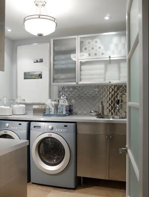 como planejar o armário da lavanderia