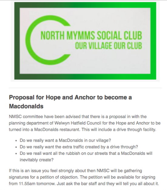 Image: Text of email sent out by NMSC on Sunday 31 March
