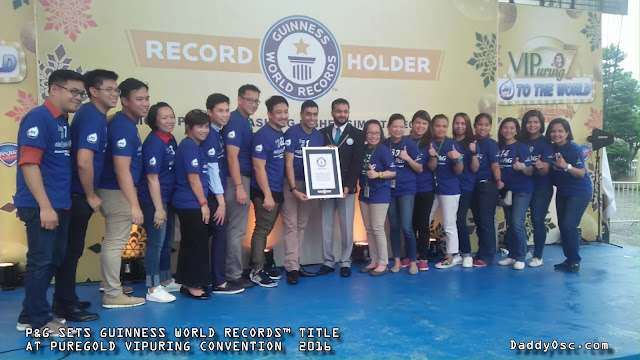 Guiness World Records Awarding of Certificate to Procter and Gamble Philippines