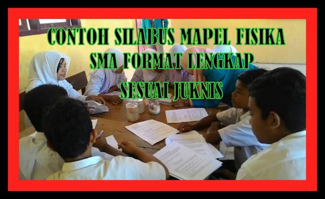 Contoh SILABUS SMA Kelas Mapel Fisika Format Lengkap Sesuai Juknis