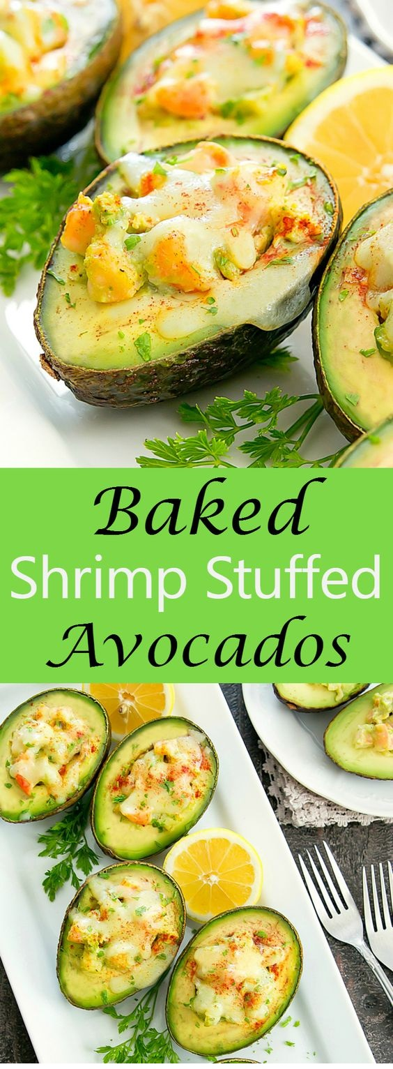 Baked Shrimp Stuffed Avocados