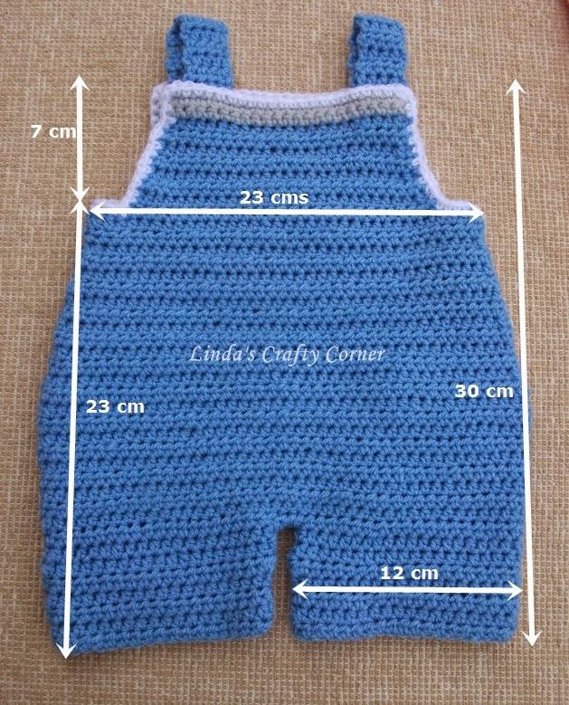 Lindas Crafty Corner Baby Dungaree Pattern