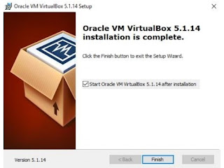 Window Selesai Install Virtual Box