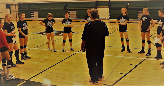 Coaching at the Saskatoon Volleyball Elite Academy