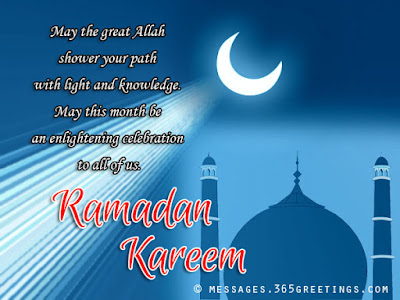 Ramadan Mubarak wishes For Massages: may the great Allah shower your path with high and knowledge