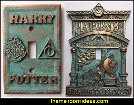 Hogwarts Light Switch Covers  Harry Potter Light Switch Covers  Harry potter themed bedrooms - Harry Potter Room Decor - Harry Potter Bedroom Ideas - Harry Potter  bedding - Harry Potter wall decals - Harry Potter wall murals - harry potter furniture - harry potter party supplies - castle decorating props - harry potter party decorations