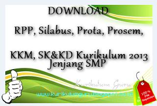 RPP, Silabus, Prota, Prosem, KKM, SK KD Kurikulum 2013 IPA Kelas VIII