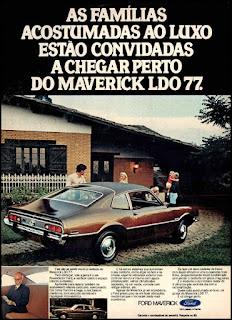 propaganda  Ford Maverick - 1977, Ford Willys anos 70, carro antigo Ford, década de 70, anos 70, Oswaldo Hernandez,