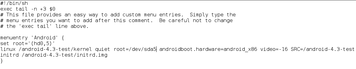 How to Add Android-x86 to Archlinux Grub List