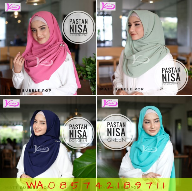 Keisha Hijab Kerudung Jaman Zaman Sekarang Jilbab Trend Masa Kini Pastan Nisa