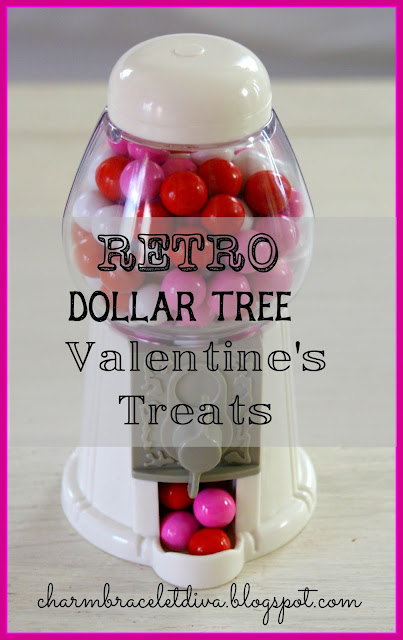 Dollar Tree Valentines treat gumball machine
