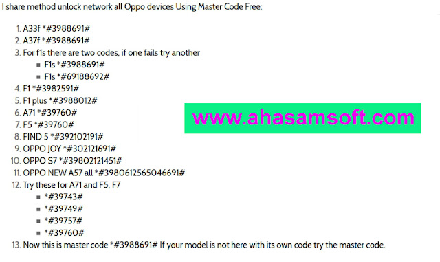 Oppo Network Unlock Effective Solution for All Devices - A