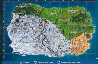 Map (Lokasi Balon Emas Di Fortnite Game)