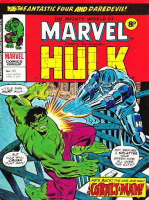 Mighty World of Marvel #183, Hulk vs Cobalt Man